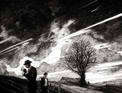 Nico Delort鉛筆黑白插畫