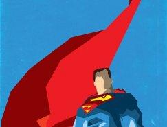 极简主义风格矢量超级英雄插