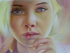 Brian Scott惊人的彩色铅笔肖像