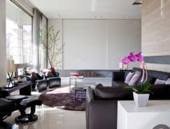 光線充足的現代客廳設計
