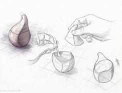 西班牙photoAlquimia:蒜头造型陶瓷调味瓶AJOR&Iacu
