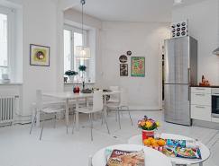 哥德堡简约别致的白色公寓设
