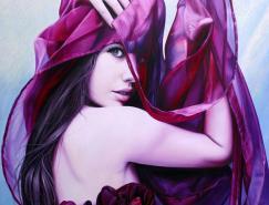 比利時女畫家ChristianeVleugels精湛人物繪畫作