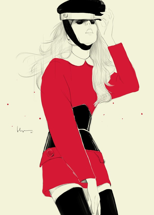 35张时尚潮流人物插画