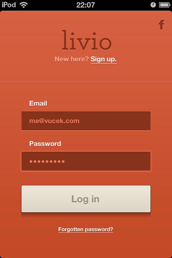 手机用户界面之登录表单设计欣赏(3)