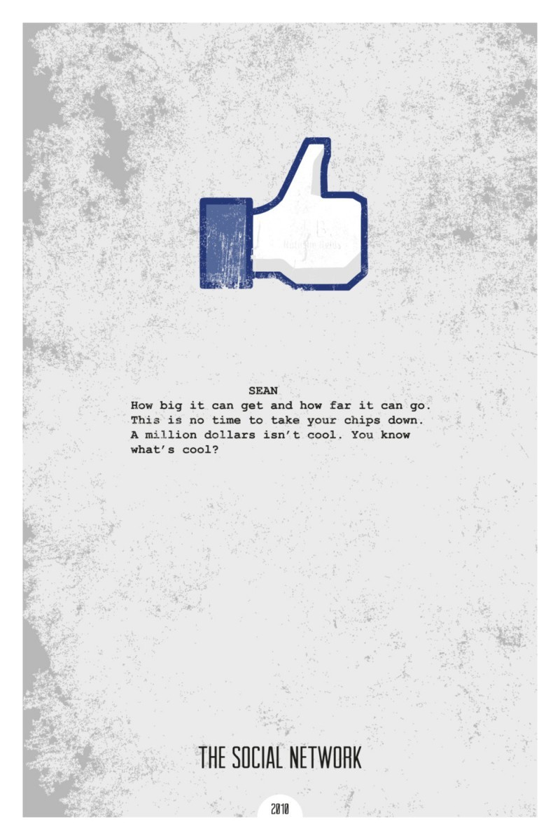 dopeprints极简电影海报设计