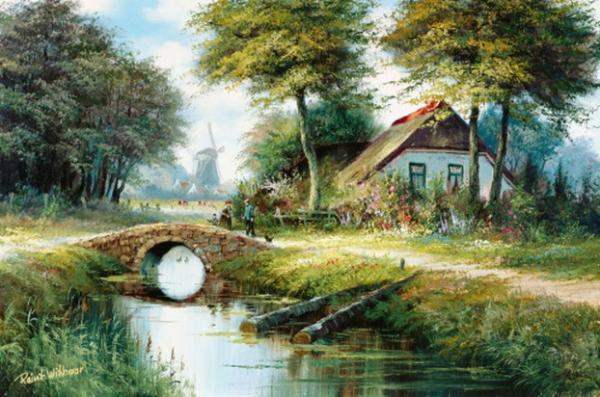 荷兰田园儿童画_田园风景画图片儿童田园简笔风景画 小学生田园风景画图片