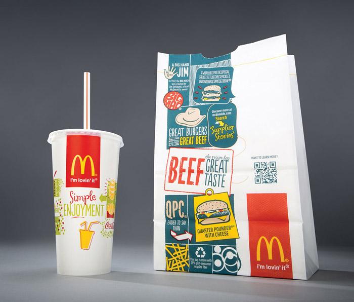 麥當勞全新包裝設計