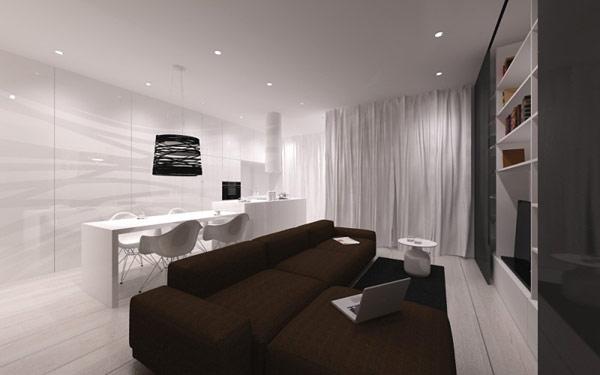 波兰斯堪的纳维亚风格极简家居装修设计