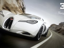 超酷的布加迪Bugatti Gangloff Concept复古概念超级跑