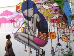 法国街头艺术家Seth城市街头壁画作品