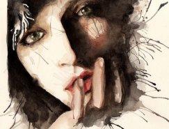 Rosaria Battiloro水彩风格插画欣赏
