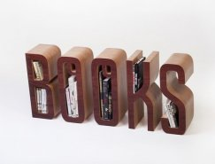 "Matt Innes:""BOOKS""字形书架"