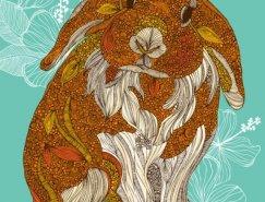 Valentina Harper动物插画欣赏