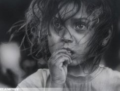 Melamory Larionova人像鉛筆畫作品