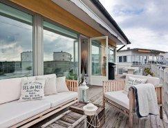 斯德哥尔摩简约舒适的顶楼公寓设计