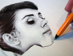 英国艺术家James Mylne:精细的圆珠笔肖像