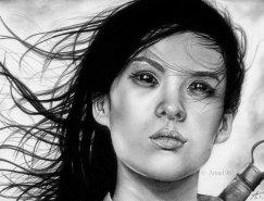 Anne Teubert肖像铅笔画欣赏