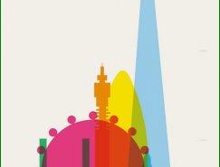 色彩城市:Yoni Alter城市剪影海报