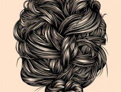 Gerrel Saunders发型插画艺术