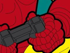 超级英雄的秘密生活:Grégoire Guillemin角色插画作