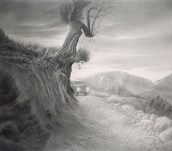 seas黑白铅笔画作品(3)