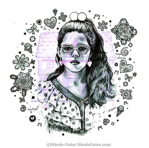 Nicole Guice时尚人物插画