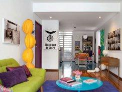 生活的色彩:圣保羅65平方米現代小公寓