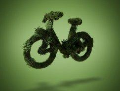 David Brodeur草的3D造型藝術