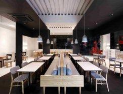 黑白的优雅空间:首尔Coco Bruni咖啡店