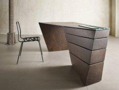 可旋转的抽屉:Torque书桌设计