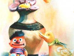 70個漂亮的水彩繪畫作品欣賞