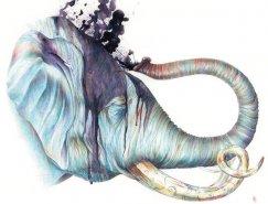 Brandon Keehner水彩动物插画