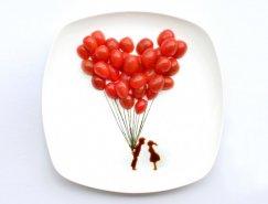 用食物作画:艺术家康怡(RED)创意食品艺术