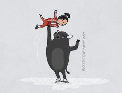 Wawawiwa幽默風趣的插畫作品欣賞