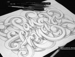 Marcelo Schultz炫丽的手绘质感字