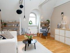 瑞典简约白色顶楼公寓