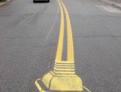 Roadsworth的马路涂鸦艺术