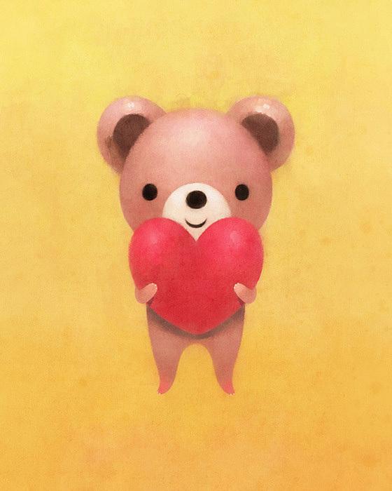 可爱的心:韩国插画师dric作品欣赏