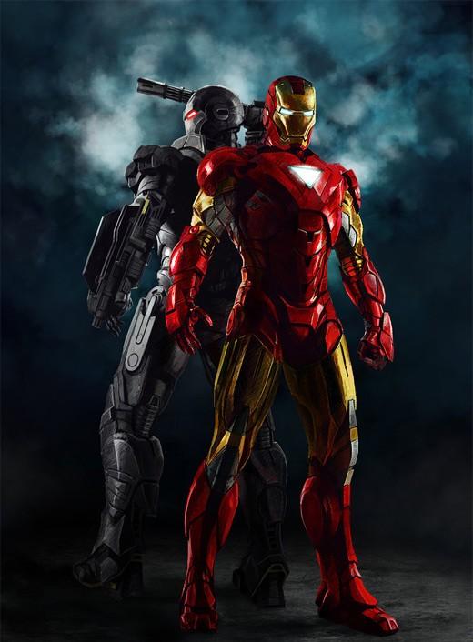 超级英雄人物插画欣赏:钢铁侠