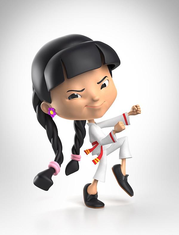 mcgee可爱儿童3d角色设计(2)