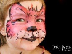 Christy Lewis可爱精致的面部彩绘艺术