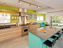 鲜艳明亮的色彩:31款国外现代厨房设计