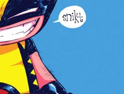 Skottie Young可爱的儿童超级英雄插画
