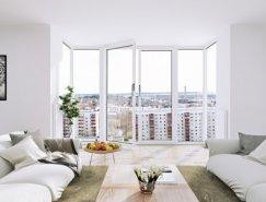 北欧和巴黎的纯白家居空间设计