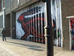比利时Roa街头艺术作品:兔子