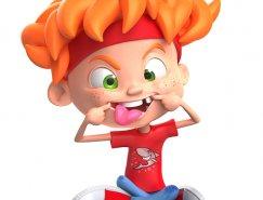 Warner McGee可爱儿童3D角色设计