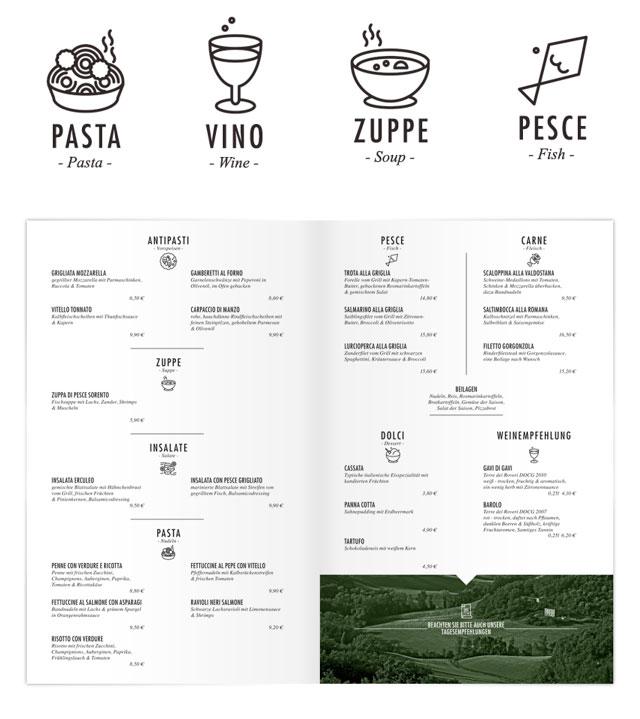 45个国外餐厅菜单和VI设计