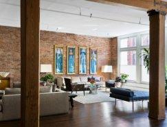 现代时尚的砖墙公寓