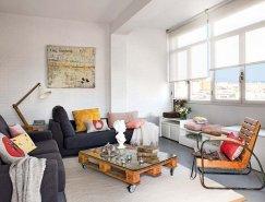 巴塞羅那舒適簡約的頂層小公寓設計